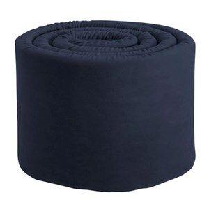 sebra Unisex Bedding Blue Baby Bumper Velour Royal Blue
