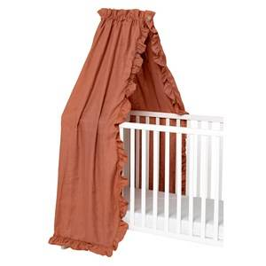 NG Baby Mood Ruffles Bed Canopy Terracotta Bed canopys