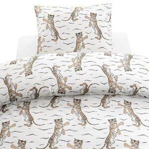 Borgans Tiger Bed Set 150 x 210 White Bed sets