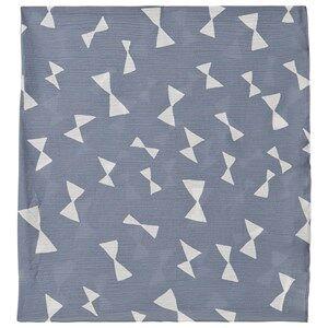 Bobo Choses Bow Muslin Blanket Blue Fog