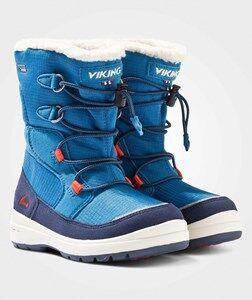 Viking Unisex Childrens Shoes Boots Blue Totak Petrol/Navy