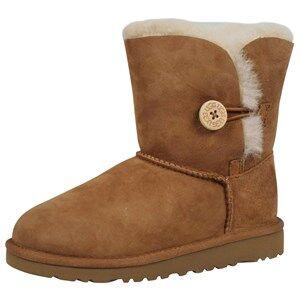 UGG Unisex Childrens Shoes Boots Brown Bailey Button Chestnut Lt. Button