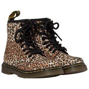 Dr. Martens Unisex Childrens Shoes Boots Brown Delaney Leo