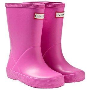 Hunter Unisex Childrens Shoes Boots Pink Hunter Kids First Classic Lipstick
