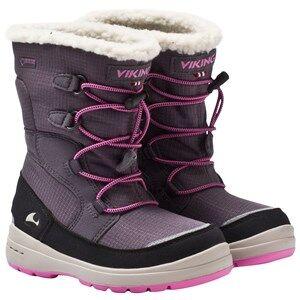 Viking Unisex Childrens Shoes Boots Grey Totak Dark Grey/Dark Pink