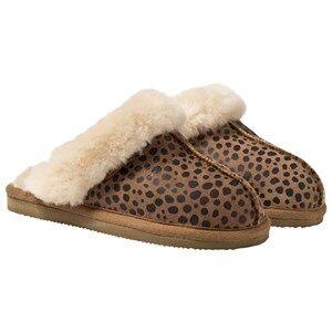 Shepherd Unisex Childrens Shoes Slippers Brown Åre Slippers Leopard