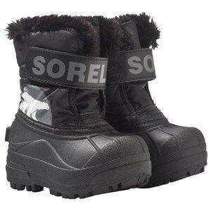 Sorel Unisex Childrens Shoes Boots Black Toddler Snow Commander™ Boots Black, Charcoal