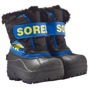 Sorel Unisex Childrens Shoes Boots Black Toddler Snow Commander™ Boots Black, Super Blue