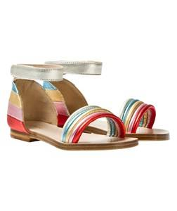 Image of Chloé Girls Sandals Multi Multi Rainbow Leather Sandals