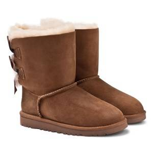 UGG Unisex Childrens Shoes Boots Brown K Bailey Bow Chestnut