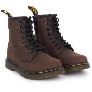 Dr. Martens Unisex Childrens Shoes Boots Brown Delaney Dk Brown
