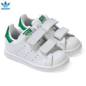 adidas Originals Unisex Sneakers White White Stan Smith Velcro Trainers