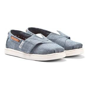 Toms Unisex Shoes Blue Chambray Tiny TOMS Biminis