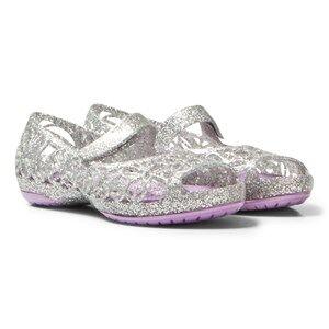 Crocs Girls Sandals Silver Silver Infants Isabella Glitter Shoes