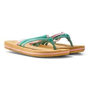 Oneill Girls Sandals Pink Pink Ditsy Flip Flops