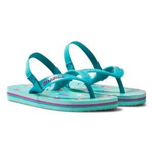 Oneill Girls Sandals Green Green Infants Lollipop Print Moya Flip Flops