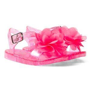 Lelli Kelly Girls Sandals Pink Raspberry Fiore Flower Jelly Sandals