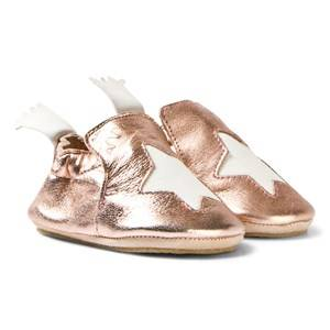 Easy Peasy Girls Shoes Gold Metallic Pink Blublu Slipper Shoes