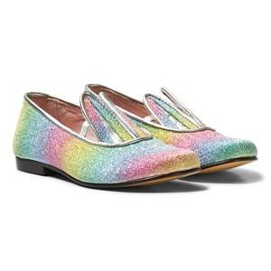 Image of Minna Parikka Girls Shoes Multi Multi Glitter Bunny Ear Loafers