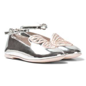 Sophia Webster Mini Girls Shoes Black Bibi Butterfly Mini White Rose Gold Pumps