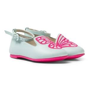 Sophia Webster Mini Girls Shoes Green Bibi Butterfly Mini Spearmint Pink Pumps