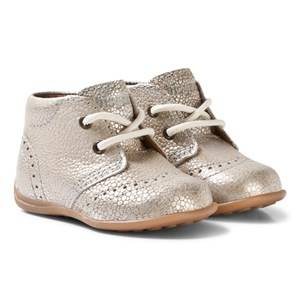 Bisgaard Girls Shoes Silver Prewalker Silver