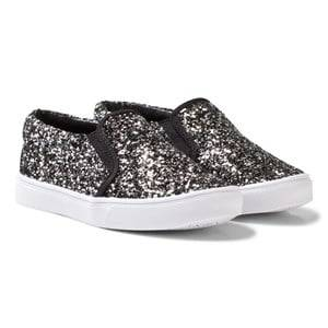 AKID Girls Sneakers Silver Silver Dazzle Liv Slip Ons