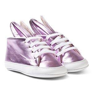 Image of Minna Parikka Girls Sneakers Pink Pink Metallic Baby Bunny Trainers