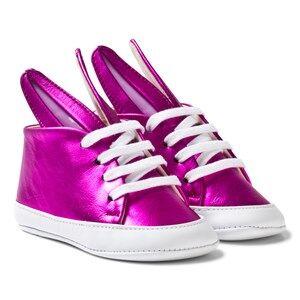 Image of Minna Parikka Girls Sneakers Pink Fuchsia Metalic Baby Bunny Trainers