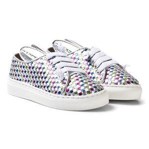 Image of Minna Parikka Girls Sneakers Silver Multi All Ears Mini Trainers