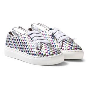 Image of Minna Parikka Girls Sneakers Silver Multi All Ears Mini Trainers