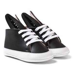 Image of Minna Parikka Girls Sneakers Black Black and White Baby Bunny Trainers
