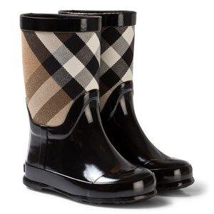 Burberry Girls Boots Black Black Nova Check Wellies