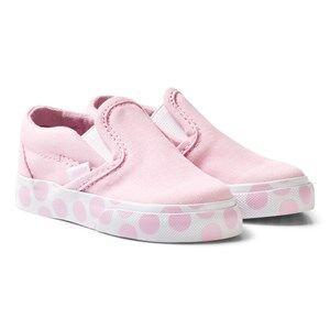 Vans Girls Sneakers Pink Pink Polka Dot Infants Slip On