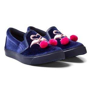 Sophia Webster Mini Girls Sneakers Navy Kingston Flamingo Slip-ons Navy