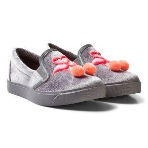 Sophia Webster Mini Girls Sneakers Pink Kingston Flamingo Slip-ons Gray