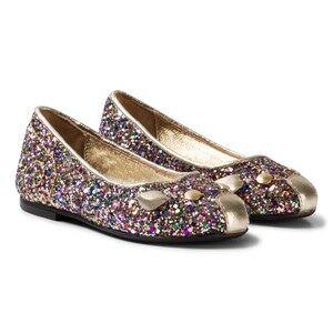 Little Marc Jacobs Girls Shoes Multi Multi Glitter Mouse Pumps