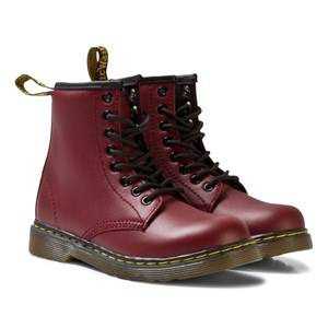 Image of Dr. Martens Unisex Boots Red Cherry Red Junior Delaney Leather Boots
