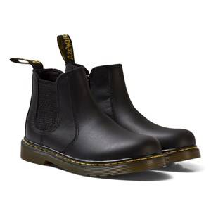 Image of Dr. Martens Girls Boots Black Black Leather Banzai Chelsea Boots