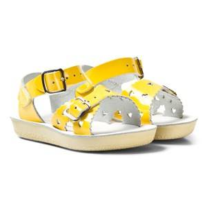 Image of Salt-Water Sandals Girls Sandals Yellow Sweetheart Premium Sandals Shiny Yellow