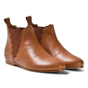 Image of Chloé Girls Boots Brown Tan Chelsea Boots
