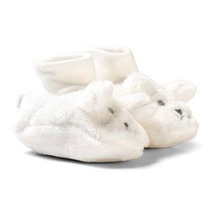 Absorba Unisex Boots Cream Cream Furry Face Booties