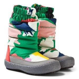 Stella McCartney Kids Girls Boots Green Multi Camo Mai Ski Boots
