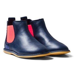 Billieblush Girls Boots Navy Navy Glitter Back Chelsea Boot