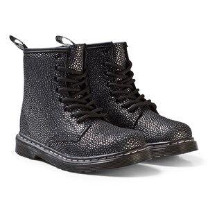 Dr. Martens Girls Boots Silver Black/Silver Pebble Delaney Metallic Boots