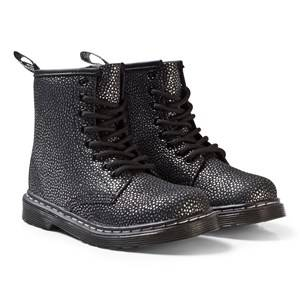 Dr. Martens Girls Boots Silver Black/Silver Pebble Delaney Metallic Boots