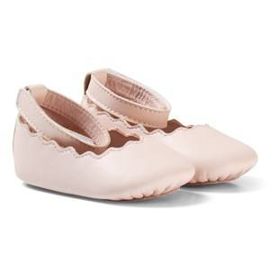 Image of Chloé Girls Shoes Pink Pale Pink Scallop Shoes