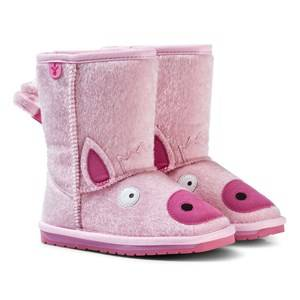 Emu Australia Girls Boots Pink Little Creatures Piggy Boots