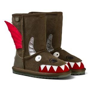Emu Australia Boys Boots Brown Little Creatures Dragon Boots
