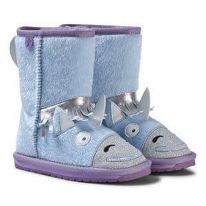 Emu Australia Girls Boots Blue Little Creatures Unicorn Boots